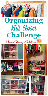 Organized Closet Organizing Closet Challenge Declutter U0026 Organize Kids U0027 Closets