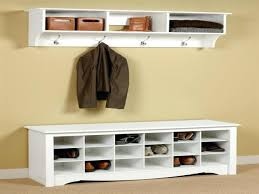 Mudroom Cabinets Ikea Adding A Coat Rack To Your Wainscoating Look Built In Itsy Picture
