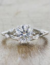 nature inspired engagement rings anya nature inspired gold engagement ring ken design