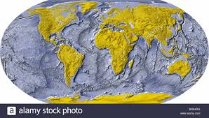 Ocean Map World by World Map Shaded Relief With Shaded Ocean Floor Land Areas