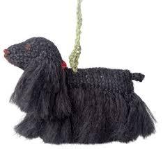 knit black cocker spaniel ornament set of 2 contemporary