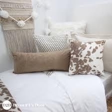 Designer Girls Bedding Tan Cowhide Designer Teen Bedding Set Rustic Farmhous