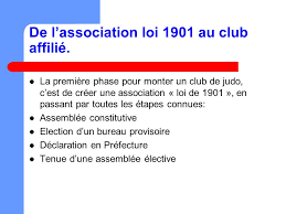 association loi 1901 bureau de l association loi de 1901 au affilié à la ffjda ppt