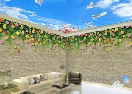 wallpaper for entire wall 3d flower vine bird brick wall entire living room wallpaper mural