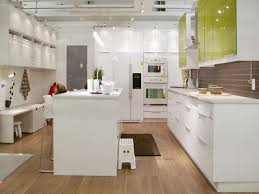 kitchens ikea cabinets sleek white wooden counter frosted glass