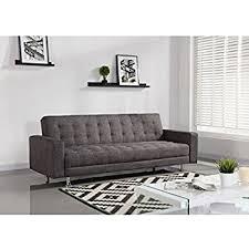 Canap Droit Convertible Luxury Canapé Droit Convertible 3 Places 220x82x80 Cm Tissu Gris