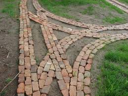reclaimed brick veneer rustic backyard brick patio with natural