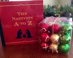 nativity set ornaments etsy