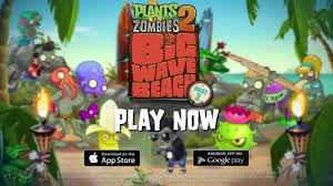 plants vs zombies 2 big wave beach part 2 play now trailer youtube