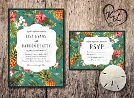 wedding invitations miami printable retro hawaiian wedding invitation hawaii miami