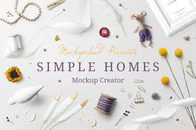 simple homes mockup creator photoshop product mockups