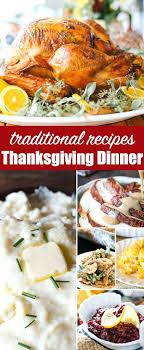 traditional thanksgiving dinner menu recipes turkey sides ideas