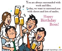 today we want to surround you boss birthday card