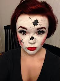 first time doing halloween makeup on myself broken china doll