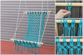 how to diy macrame hammock chair