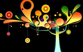 wallpaper bunga lingkaran wallpaper ilustrasi gambar kartun konsep seni lingkaran