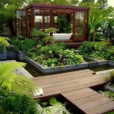 modern garden design landscape photograph fig modern land