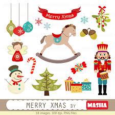 christmas clip art masha studio
