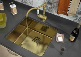 Faucets For Kitchen Sinks by Extraordinary Gold Stainless Kitchen Sink For Elegant Kitchen