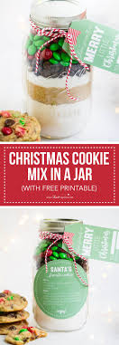 christmas cookie gifts cookie mix in a jar with free printable i heart nap time