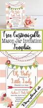 free printable mason jar invitation the pinning mama