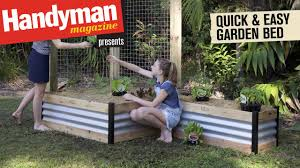 build a quick and easy raised garden bed youtube