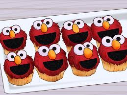 elmo cupcakes how to make elmo cupcakes with pictures wikihow