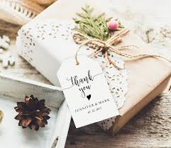 wedding thank you tags wedding favor tags rustic thank you