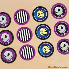 nightmare before christmas cupcake toppers free printable nightmare before christmas cupcake