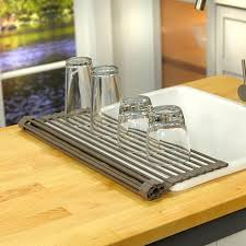 Curtis Stone Roll Up Drying Rack And Trivet  HSN - Kitchen sink drying rack