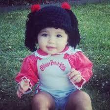 Homemade Cabbage Patch Kid Halloween Costume Raggedy Ann Wig Baby Hat Halloween Costume Baby Wig Yumbaby