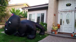 9 foot tall inflatable halloween black cat youtube