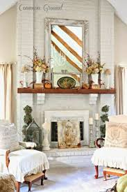Shabby Chic Fireplace Mantels by Thanksgiving Mantel Decorating Using Flea Market Finds Mantels