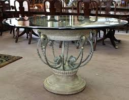 traditional round glass dining table round foyer table image of round foyer table decorating ideas foyer
