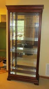glass shelves for china cabinet modern mahogany sliding front curio china cabinet with four
