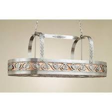 pot racks hanging lighted chandelier stainless steel