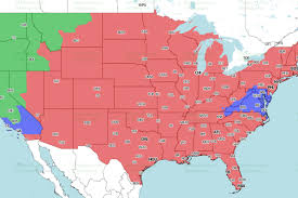 Map Dallas Dallas Cowboys At Denver Broncos Tv Broadcast Map Fox Mile