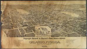 Map Orlando Fl by 1884 Panoramic Map Of Orlando Orlando Memory