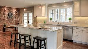 Trends In Kitchen Design by Kitchen White Shaker Wall Cabinets Shaded Hardwood Flooring