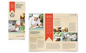 culinary tri fold brochure template design