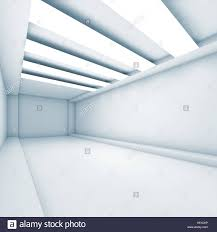 decorative ceiling light panels abstract empty corridor background with stripes of decorative
