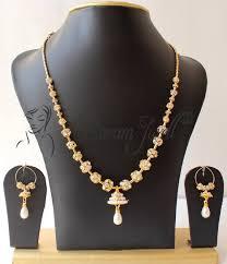 stone set necklace images Buy beautiful handmade cz designer necklace set online jpg