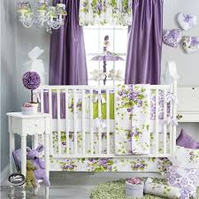 Nursery Bedding And Curtains Baby Nursery Bedding Sets With Purple Colors Room And