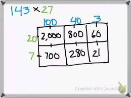 multiplication area model method 3 digit by 2 digit youtube
