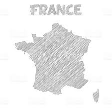 Corsica Map France Map Hand Drawn On White Background Stock Vector Art