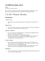 7 3 dit powerstroke part 1 pdf fuel injection diesel engine