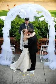 wedding arches decorated with tulle unique floral arrangement ideas for events homes wedding arch