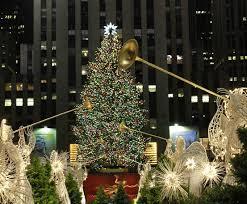 rockefeller center tree lighting ceremony in new york ny