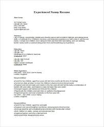 nanny resume unforgettable full time nanny resume examples to