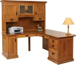 solid wood homestead corner desk with hutch